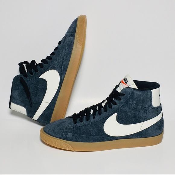 separation shoes 99245 b06d4 Nike Blazer Mid Suede Black White Gum 518171-017.  M 5c28d828951996a218b2c534. Other Shoes ...